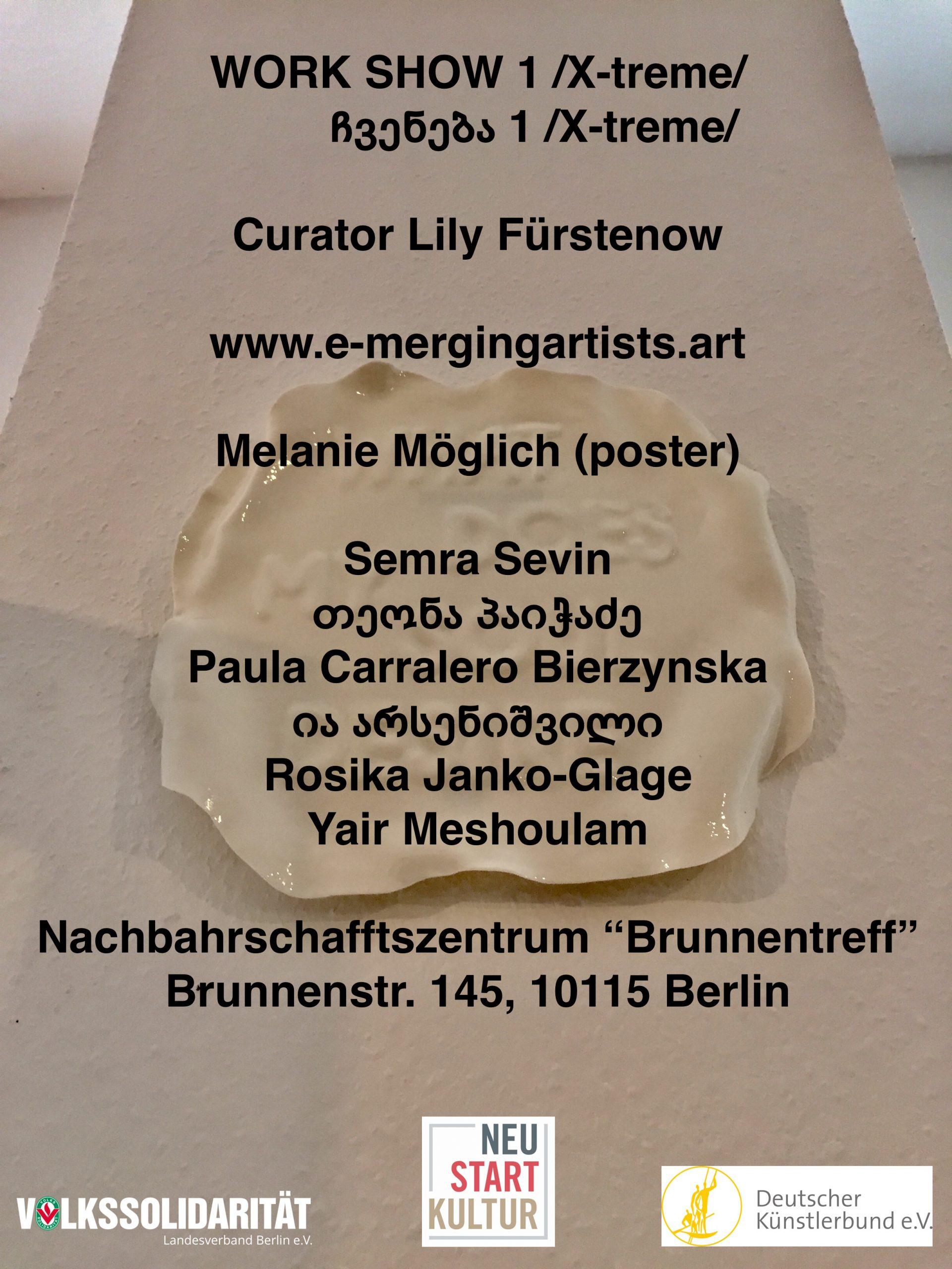 Curator Lily Fürstenow. Work Show 1. Poster